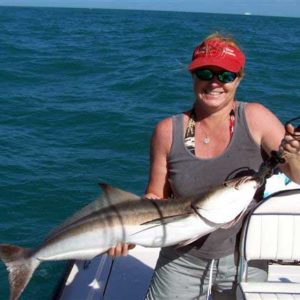 client with cobia fish