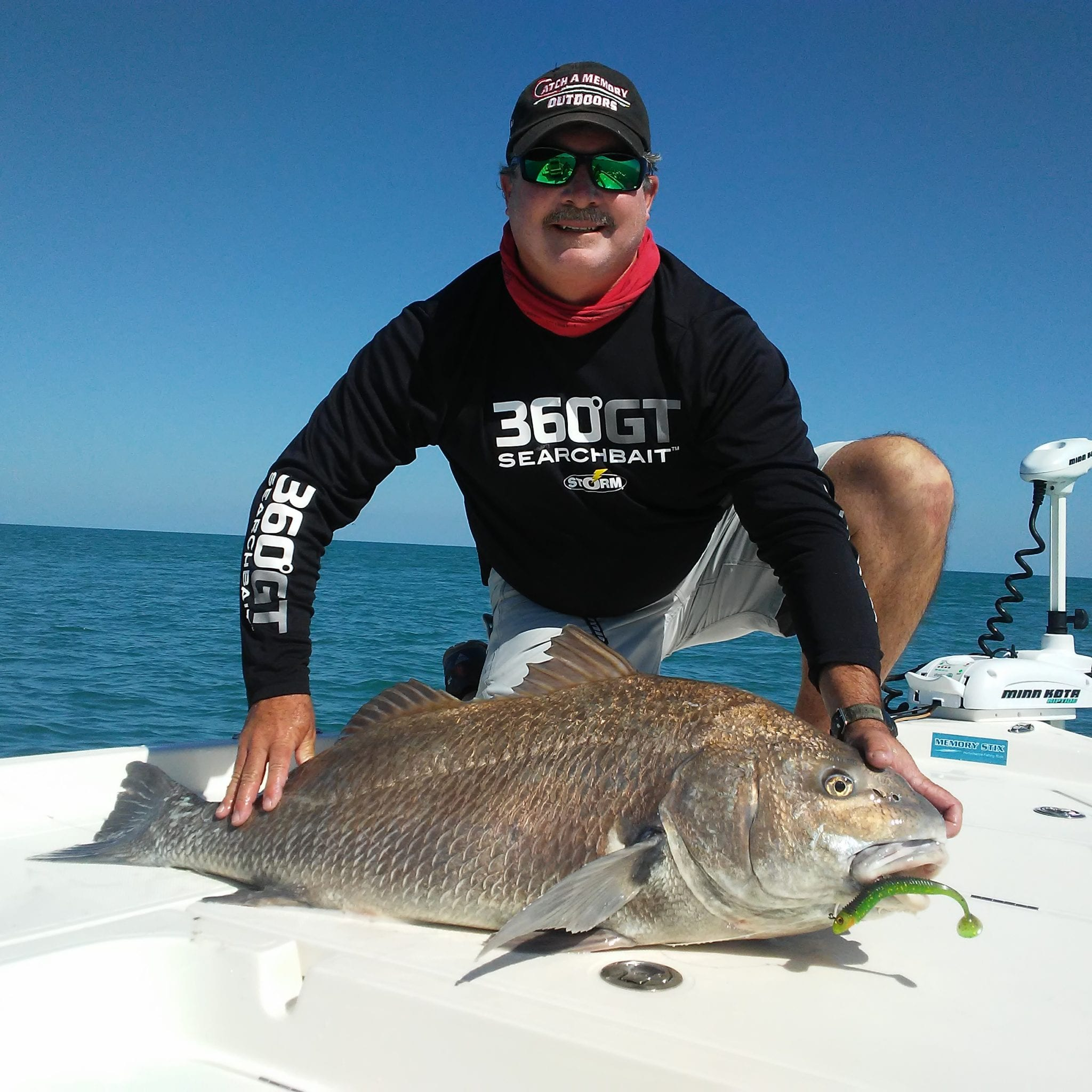 jim ross with black drum